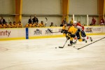 Nashville's Brendan Leipsic drives through the slot. (Jim Diamond/Rinkside Report)