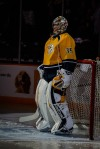 Pekka Rinne during player introductions (Jim Diamond/Rinkside Report)