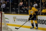 Seth Jones surveying the ice on a Nashville power play. (Jim Diamond/Rinkside Report)