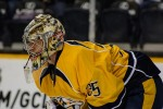 Pekka Rinne focuses as the play is up ice. (Jim Diamond/Rinkside Report)