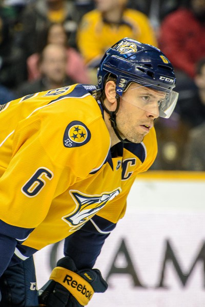 Nashville Predators captain Shea Weber. (Jim Diamond/Rinkside Report)